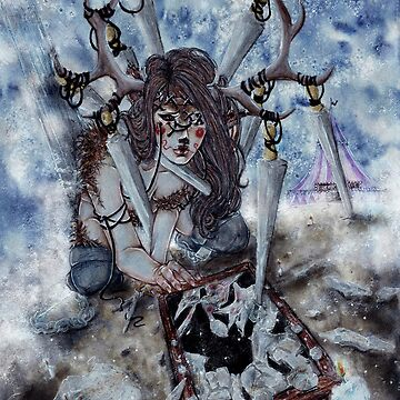 78 Tarot :: Eight of Swords by LadyFanhir