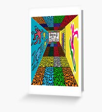 3D Wall - HARING Greeting Card