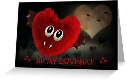 LOVEBAT GOTH BAT VALENTINES DAY CARD