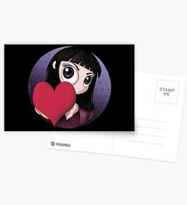 PEEKABOO LOVE HEART VALENTINE'S DAY - GOTH, GOTHIC, CUTE Postcards
