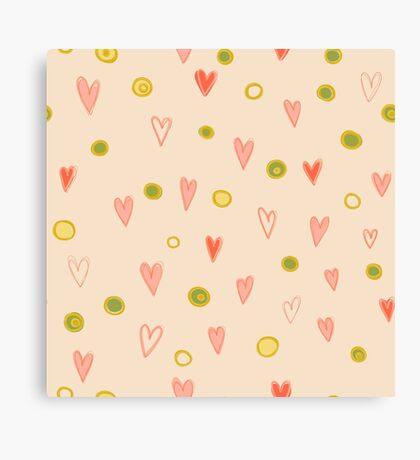 Romantic pattern Canvas Print