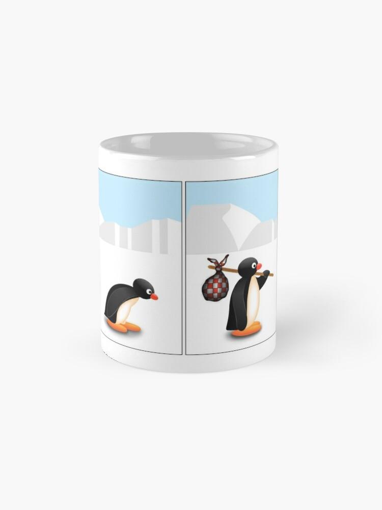 Alternative Ansicht von Die Pinguin-Evolution Tasse