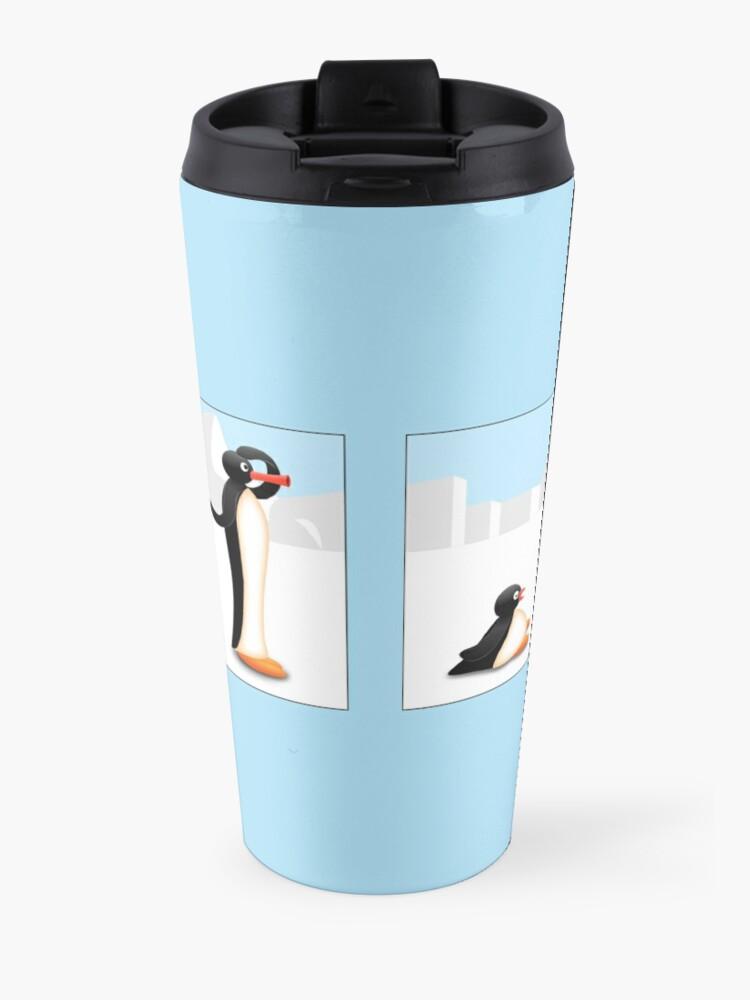 Alternative Ansicht von Die Pinguin-Evolution Thermobecher