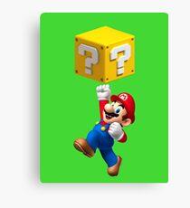 Mario Jumping Canvas Print