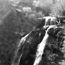 South Creek Falls Monochrome  by HHImagery