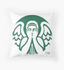 Starbucks Don't Blink Throw Pillow