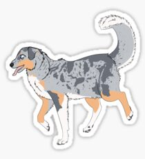 Blue Merle Sticker