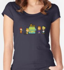 Shaggy Brown and The Scooby Crew  Women's Fitted Scoop T-Shirt
