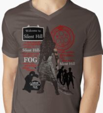 Camiseta para hombre de cuello en v Colina silenciosa