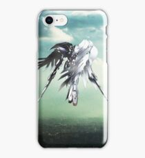 Gundam Wing above the city  iPhone Case/Skin