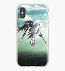 Gundam Wing above the city  iPhone Case