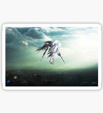 Gundam Wing above the city  Sticker