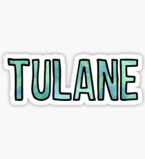 Tulane GreenBlue Tie Dye Sticker