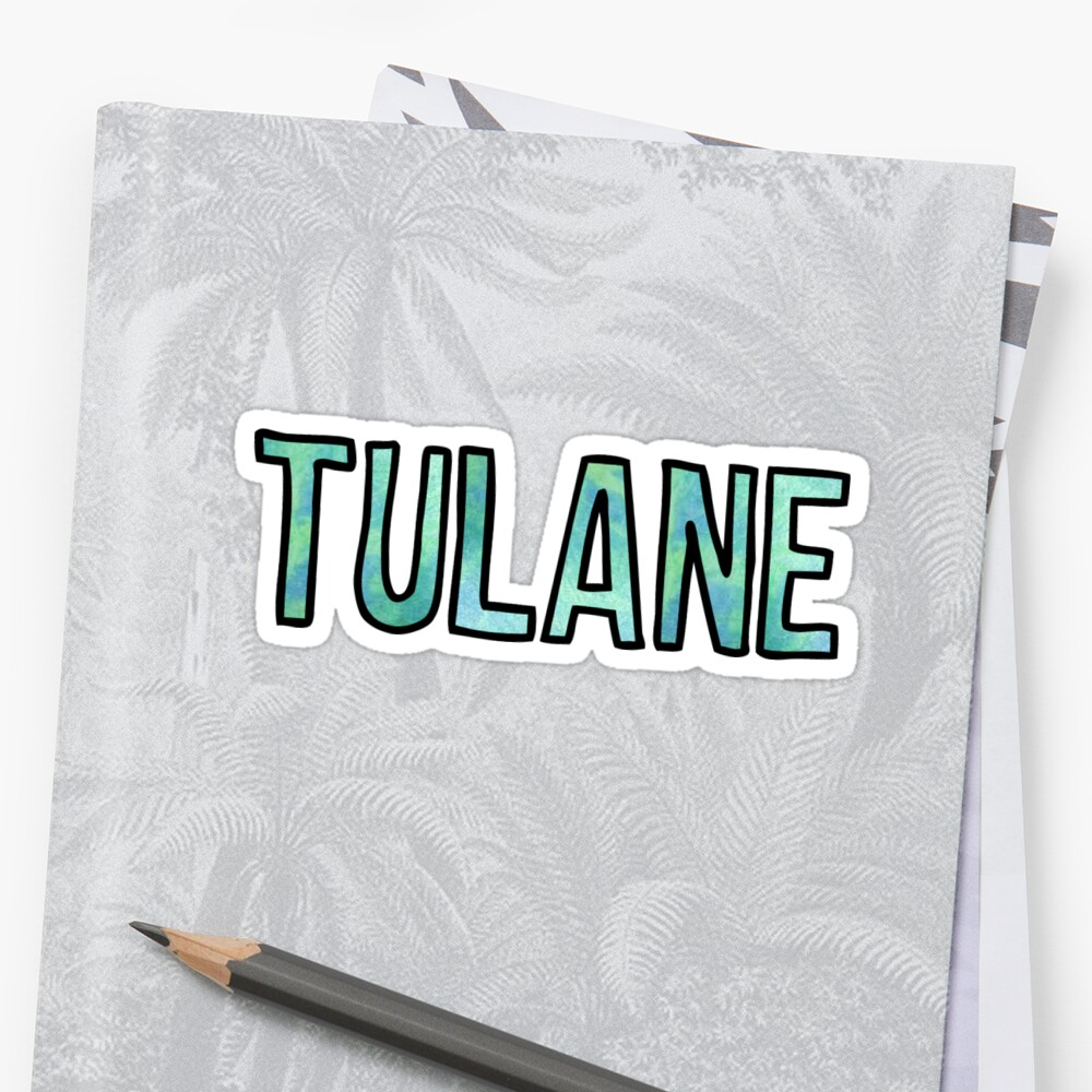 Tulane GreenBlue Tie Dye by Kt Farello Designs