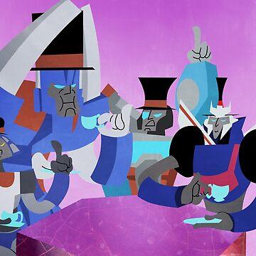 Transformers tea time by DiamondCrusade