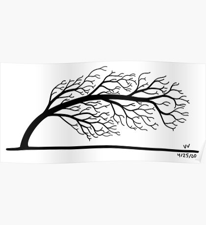 Windblown Tree Poster