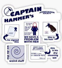 Captain Hammer's Appreciation Society Sticker