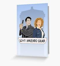 Sci-fi Innuendo Squad Greeting Card