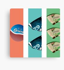 Three Flavours Cornetto Trilogy Canvas Print