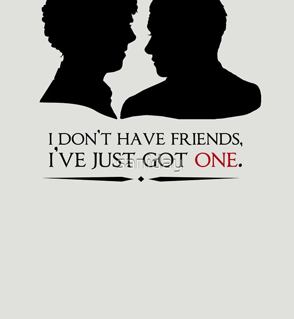 I don't have friends, I've just got one by saniday