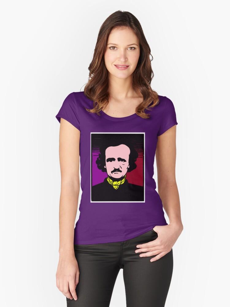 EDGAR ALLAN POE-22  Women's Fitted Scoop T-Shirt Front