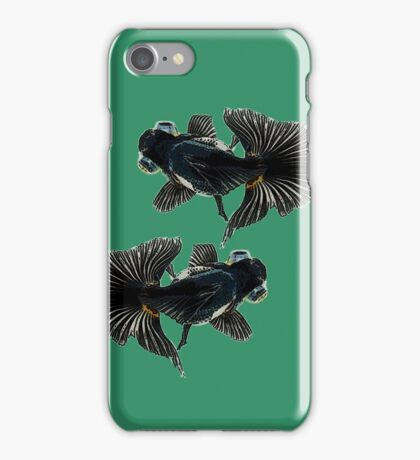 bug-eyed goldfish iPhone Case/Skin
