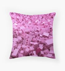 Pink legos Throw Pillow