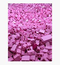 Pink legos Photographic Print