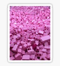 Pink legos Sticker