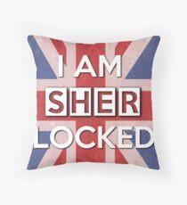 I Am Sherlocked Throw Pillow