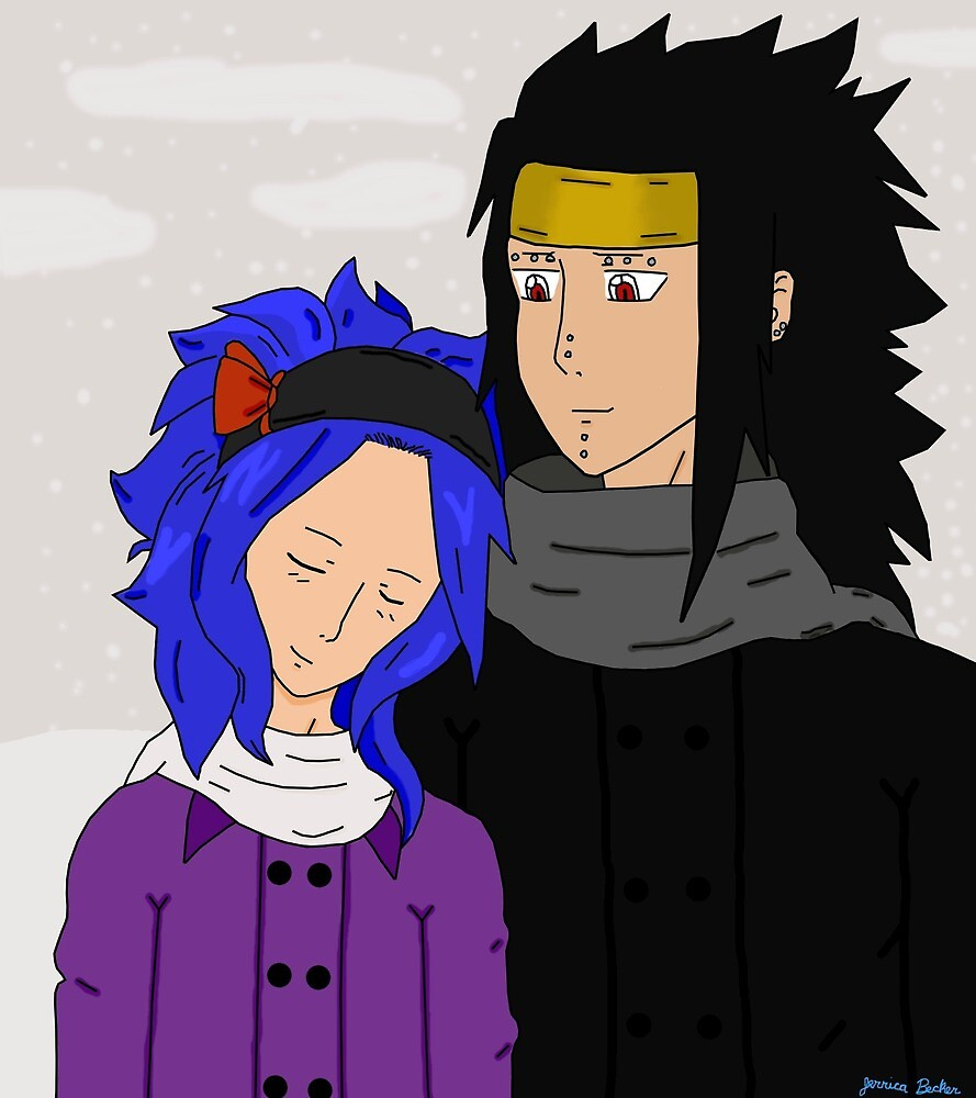 Gajeel and Levy by furrypikapower