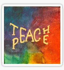 Watercolor Teach Peace Sticker