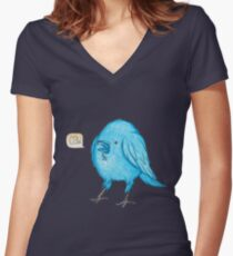 Riley the Raven Women's Fitted V-Neck T-Shirt