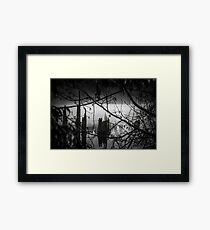 Peering out from the Wood Framed Print