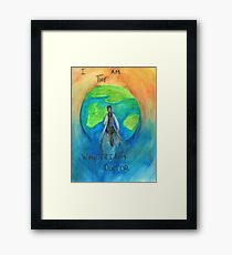 DW: I am the Wandering Doctor Framed Print