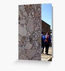 Conglomerate column ~ Pergamon, Turkey Greeting Card