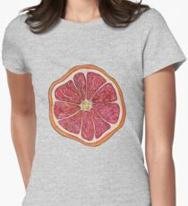 Grapefruit Womens Fitted T-Shirt