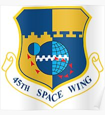 45th Space Wing Logo Poster