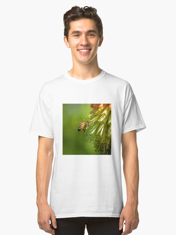 Bee in Flight  Classic T-Shirt Front