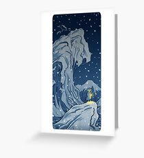 Mountain Snow Greeting Card