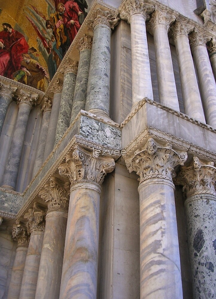Columns on the Basilica di San Marco, Venice by lezvee
