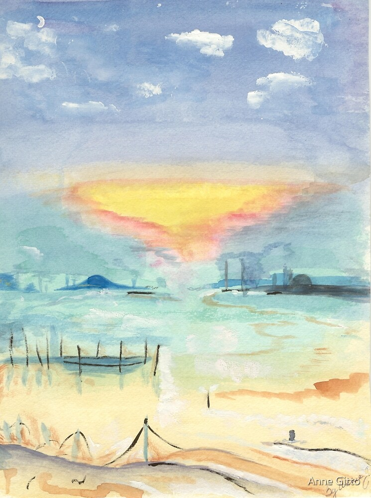 Nuclear Sunset by Anne Gitto