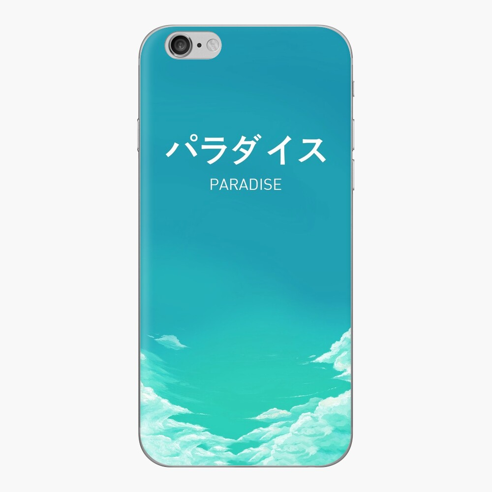 Paradise Japanese Aesthetic iPhone Skin