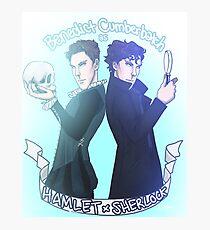 Benedict Cumberbatch as Hamlet x Sherlock Photographic Print
