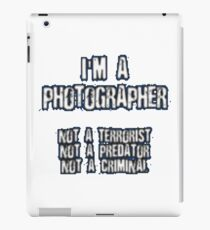 Funny Photographer Shirt iPad Case/Skin