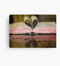 Bible Heart Canvas Print