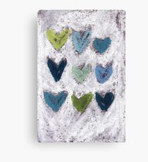 Happy Hearts No. 6 Canvas Print