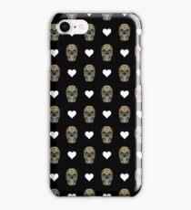 Love Hearts Skull 1 Death Goth Dark Green Halloween Dead Day iPhone Case/Skin