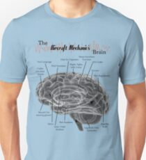 Aircraft Mechanics Brain - Black Unisex T-Shirt