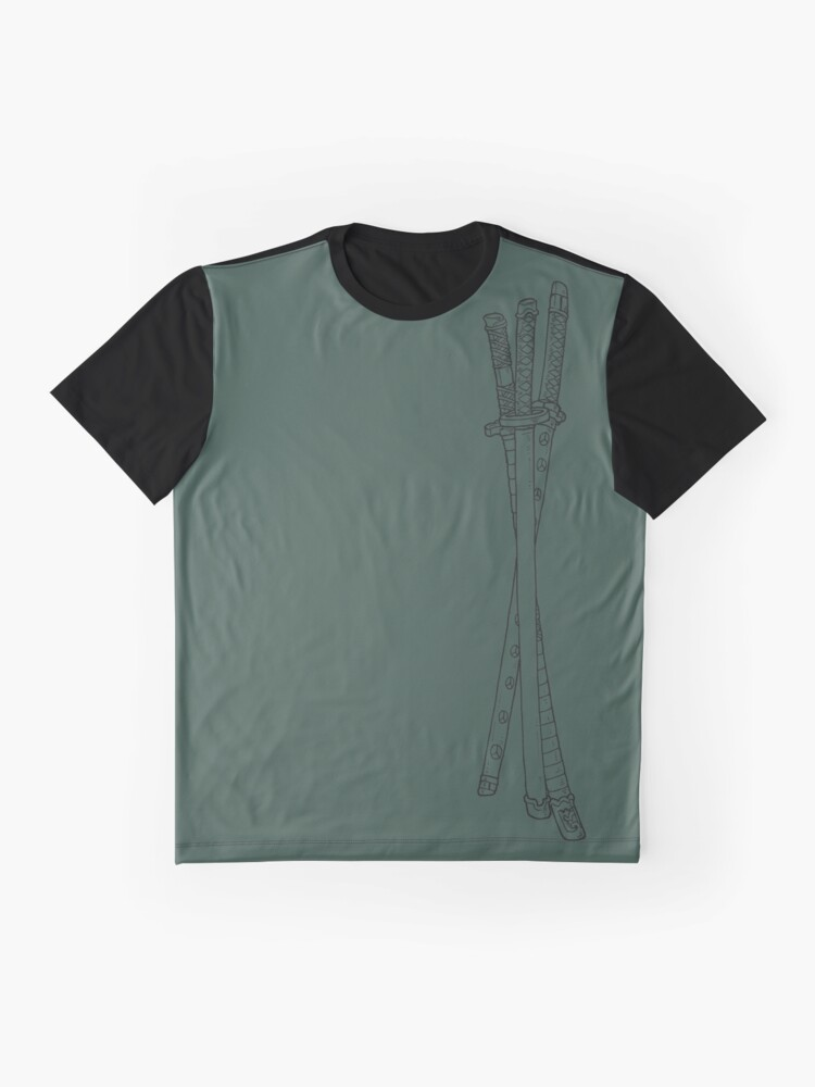 Alternative Ansicht von Roronoa Zoro Katanas Grafik T-Shirt